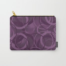 Seamless pattern with circles on purple background Carry-All Pouch