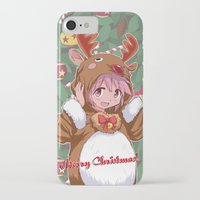madoka magica iPhone & iPod Cases featuring Xmas Madoka Magica by Neo Crystal Tokyo