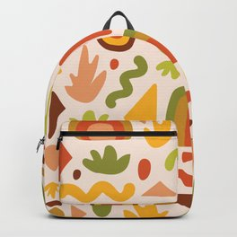 Succulent Cutout Print Backpack