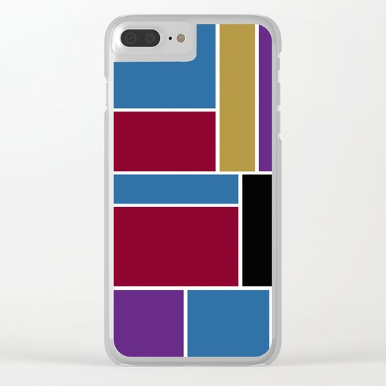 Abstract #419 Clear iPhone Case