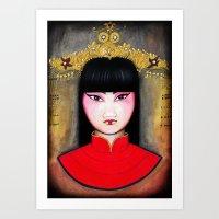 asia Art Prints featuring Asia by Melanie Arias