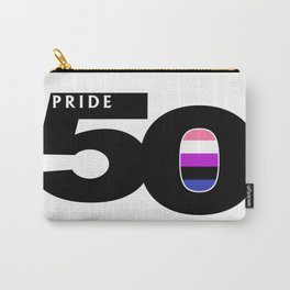 50 Pride Genderfluid Pride Flag Carry-All Pouch