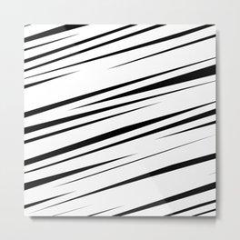 White Scribble Metal Print