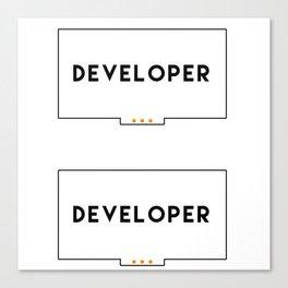 Developer stickers 2 in 1 Canvas Print