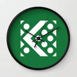 Geometric Calendar (August) Wall Clock