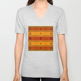 """Ethnic Pattern Warm Tones II"" Unisex V-Neck"