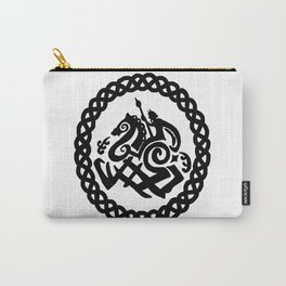 Odin And Sleipnir In Celtic Ring Carry-All Pouch