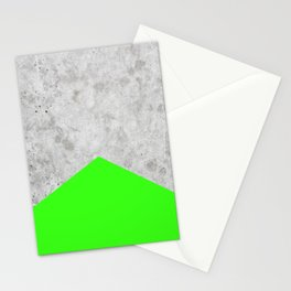 Concrete Arrow - Neon Green #394 Stationery Cards
