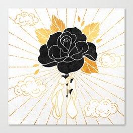 Black Rose Inktober :: Your Psyche Canvas Print