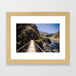 Hot Springs & Bridge Framed Art Print