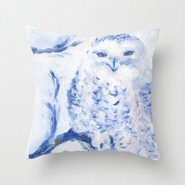 Insight: Snowy Owl Throw Pillow