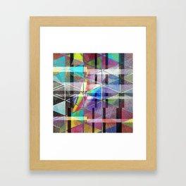 fractour de trigone Framed Art Print