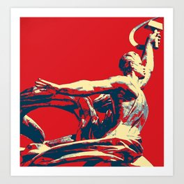 RISE OF THE RED WORKER I Art Print