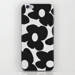 Black Retro Flowers White Background #decor #society6 #buyart iPhone Skin