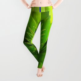 MODERN GREEN HAWAIIAN PINEAPPLE ART Leggings