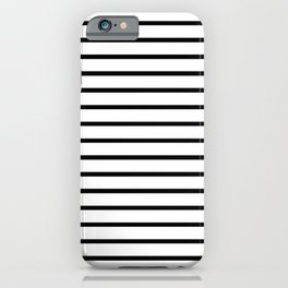 Horizontal Black Stripes Pattern iPhone Case