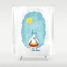 Polar Beach Shower Curtain