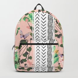 Pattern flowers and cactus Backpack