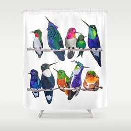 Hum if you Don't Know the Birds Shower Curtain