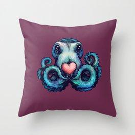 Octopus needs love 1 Throw Pillow