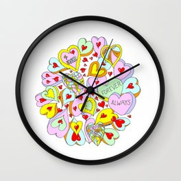 Hearts Galore Wall Clock