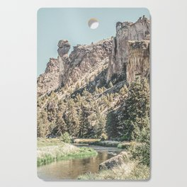 Vintage Smith Rock State Park // River and Rocks Scenic Hiking Landscape Photograph Cutting Board