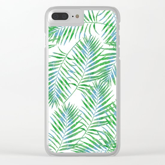 Fern Leaves Clear iPhone Case