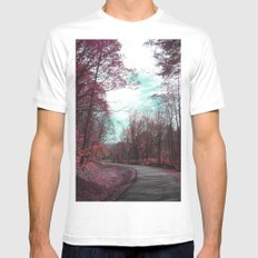 Passing Through II MEDIUM White Mens Fitted Tee