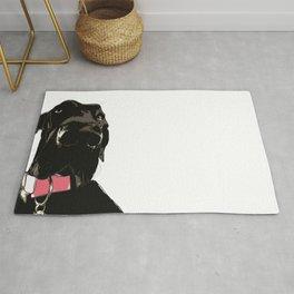 Great Dane Dog (black-pink collar) Rug
