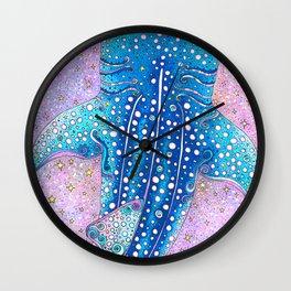 Whale Shark Galaxy Wall Clock