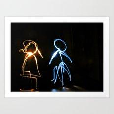 Boy&Girl Art Print