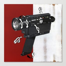 Bad Robot - Super8 Canvas Print