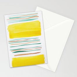 13  |181026 Lines & Color Block | Watercolor Abstract | Modern Watercolor Art Stationery Cards