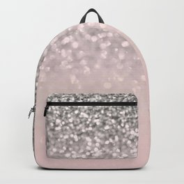 Sparkling Silver Blush Glitter #1 #shiny #decor #art #society6 Backpack