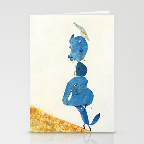 Up the hill we go! Stationery Cards