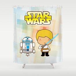 Luke Skywalker and R2D2 Shower Curtain