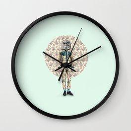 Hipster Owl Man Wall Clock
