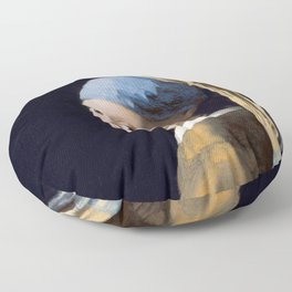 Girl With a Pearl Earring - Vermeer Floor Pillow