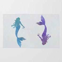blue & purple mermaid Rug