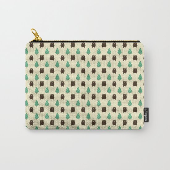 Bears and Trees Carry-All Pouch