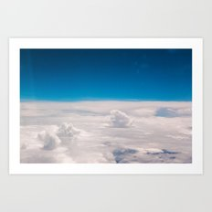 Blue and White at the sky Art Print