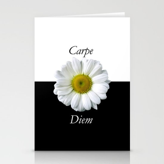 Yin Yang Carpe Diem Stationery Cards
