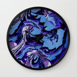 Electrifying Lavender Wall Clock