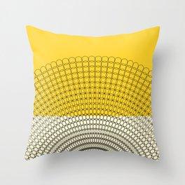 Sunflower Geometric Pattern Throw Pillow