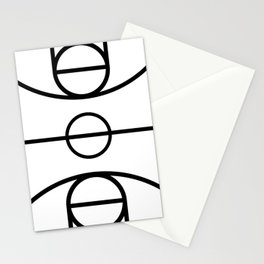 Basketball Court Stationery Cards