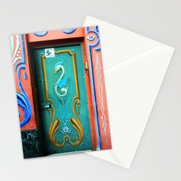 Traditional painting 'Fileteado porteño' on door and walls Stationery Cards