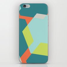 Hex - Teal iPhone & iPod Skin