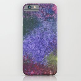 Abstract painting of sponged colorful spots iPhone Case