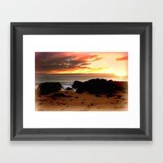 Ocean Sunrise Framed Art Print