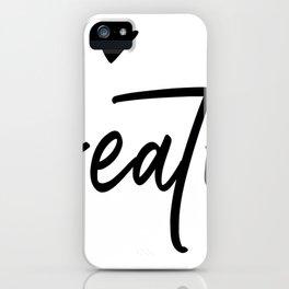 Breathe, Just Breathe Positivity Zen Cute Design iPhone Case